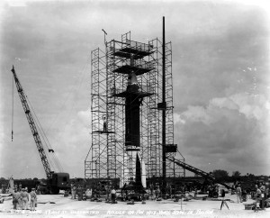 9 Bumper on pad with Work Stand July 18, 1950
